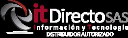 Logo It directo horizontal blanco